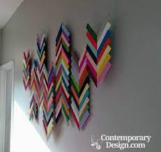 wall hanging made by waste materials