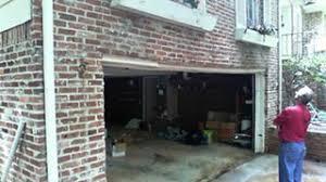 sagging garage door header problem