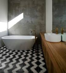 Contemporary Floor Tile Stained Concrete Bathroom Floor Bathroom Modern With Vanity Vanity