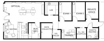 floor plan design. Optometry Office Floor Plan - 1,437 Sq. Ft. Design E