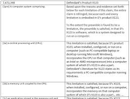 Patent Claim Chart Claim Charts Book Part Iii Software Litigation Consulting