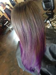 Brown Hair With Purple Ends Ombré