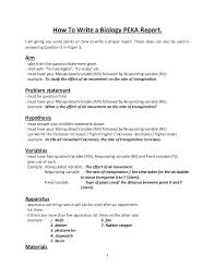 10 Formal Lab Report Example Biology Etciscoming