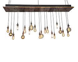 20 light reclaimed wood chandelier