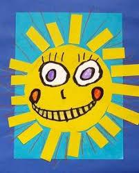 kinder cut out sun faces kindergarten art projects tapas summer art