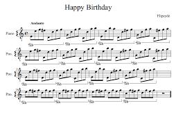 flipsyde happy birthday noten für