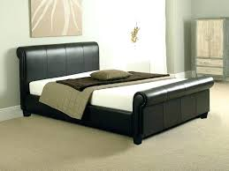 upholstered leather sleigh bed. Black Sleigh Bed Queen Leather Home Decorating Ideas Double Or King Size . Upholstered