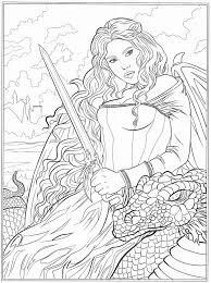 Small Picture 731 best Fantasy Coloring Pages for Adults images on Pinterest