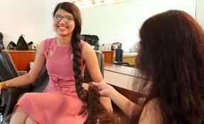 nilanshi patel 16 sets guinness world record for six foot long hair allure