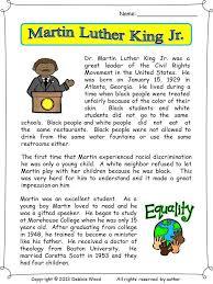 92 best Martin Luther king,Jr worksheet images on Pinterest   King ...