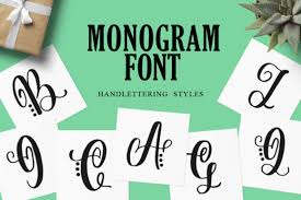 Free for commercial and personal use. Monogram Font By Typefar Creative Fabrica