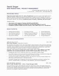 Sample Resume For C Net Developer New Sample Resumes For Managers