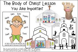 The Body Of Christ Bible Crafts And Games