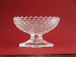 vintage westmoreland clear glass english hobnail salt dip