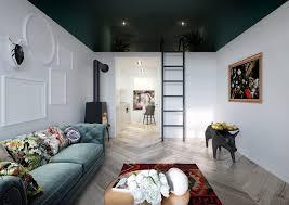 0 studio apartment with mezzanine floor bedroom dark