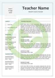 Teacher Cover Letter And Resume Template Teaching Resource Teach