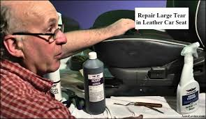 how to repair large tear in leather car