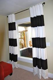 Black And White Striped Curtains Horizontal