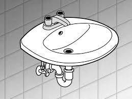Bathroom Sink Clips How To Install A Bathroom Sink 13 Steps With Pictures Wikihow