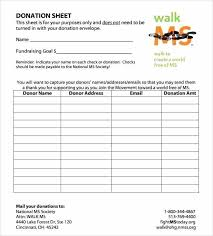 Free Printable Pledge Sheets And Pledge Sheets For