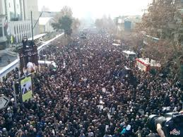 Image result for مردم در تشییع شهدای اهواز سنگ تمام گذاشتند