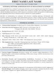 Sample Help Desk Support Resume It Support Management Resume Sample Template