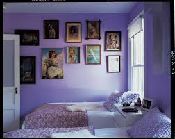 dark purple furniture. Beauteous Portrait Attach At Purple Wall Paint With Double Beds In Twin Girls Bedrooms Decoration Designs Dark Furniture A