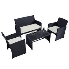 top product reviews for costway 4 pc rattan patio furniture set