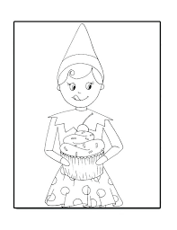 Luxury Elf On The Shelf Coloring Pages For Elf On Shelf Coloring