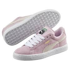 puma shoes pink and white. puma kid\u0027s suede trainers shoes pink lady white team gold yynx31j4 puma and
