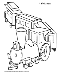 The machinist in a steam locomotive. Christmas Train Coloring Pages Toy Coloring Home
