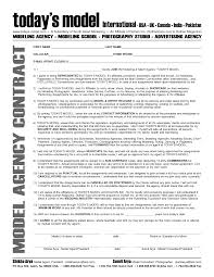 Modeling Agency Contract Template International Business ...
