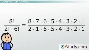 math combinations formula and example problems lesson transcript study com