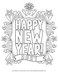 On our calendar it is january 1st. Happy New Year Coloring Pages For 2021 Fun Loving Families