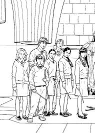 Harry Potter 5 Coloring Pages Potter