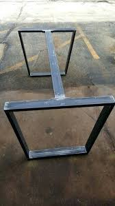 metal furniture legs modern. Metal Table Legs Custom Order Trapezoid Steel With 1 Or 2 Braces Dining Industrial Modern Set Of Furniture E