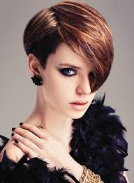 Short Women Hairstyle short hairstyle with long side swept bangs for women 8888 by stevesalt.us