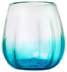 amici home rosa stemless aqua ombre wine glass set of 4 contemporary wine glasses by global amici