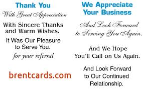 Business Thank You Card Wording - W7Mcm.com
