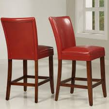 red leather bar stools. Furniture Square Red Leather Bar Stools With Back And C