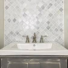 bathroom and kitchen tile. we are in love with the hampton carrara marble arabesque mosaic tile bathroom floor and kitchen p