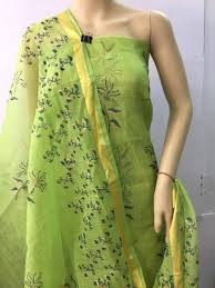 Kota Doria Suits Designs Kota Doria Block Prints Suits Material Kota Doria Cotton