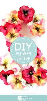 diy flower letters how to make a fl monogram artificial flowers monogram craft