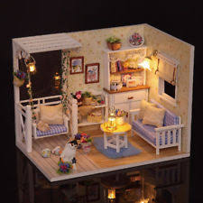 miniature doll furniture. DIY Miniature Wooden Doll House Furniture Handmade Craft Model Kit DollHouse Toy