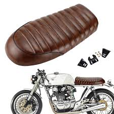 motorcycle retro vintage custom brown flat brat style tracker cafe