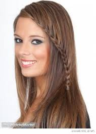 Braided Bangs Hairstyles Short To Medium Brown Hairstyles With Side Bangs And Layers For