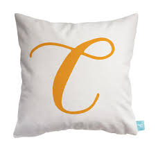 Gorgeous letter C initial pillow - perfect for a kids bedroom