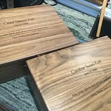 Keepsake Box Custom Engraved Wood Box Cherry Keepsake Box | Etsy