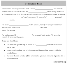 Free Commercial Lease Agreement Forms To Print Commercial Lease Form Sample Forms
