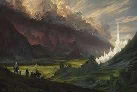 A hobbit-sized middle earth wallpaper ...